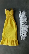 Vintage Barbie _ #9219 Original Deluxe Quick Curl Cara Kleid & Stola 1975 _ VHTF