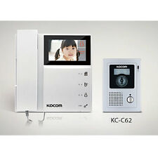 "KOCOM 4.3"" 2 Wire Color Video Intercom KCV-452 + KC-C62 Night Vision Door Camera"