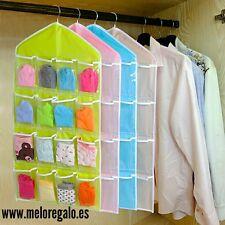 Organizador de ropa interior para armario colgable en percha, plastico beige