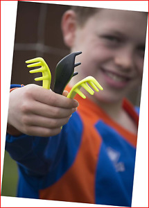 Bootclaw - the pocket mud scraper for football and rugby boots neon