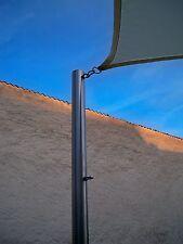 Sonnensegelmast Sonnensegelpfosten Edelstahl 3m ∅60x3mm Sonnensegel neu 6030/3-1