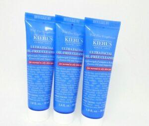 Lot/3 Kiehl's Ultra Facial Oil-Free Cleanser ~ 1.0 oz / 30 mL Each
