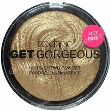 Technic Get Gorgeous 24ct GOLD Highlighting Powder Highlighter Bronzer Bronzing