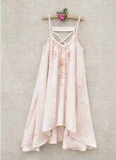 NWT Joyfolie Girl Meadow Dress In Blush Peach Pink Satin Sequins Beading Size 7