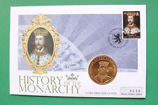 2008 Monarchy Coin Cover Cook Islands Henry II Gold Plated Coin SNo43020