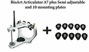 Dental BIOART A7-Plus Semi-Adjustable Articulator with 10pcs mounting plates