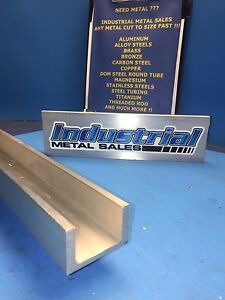 "6061 T6 Aluminum Channel 2"" x .170"" x 1-1/4"" x 60""-Long"