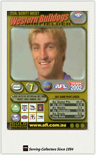 2002 AFL Teamcoach Gold Trading Card #256 Scott West (Western Bulldogs)
