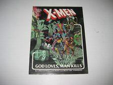 MARVEL GRAPHIC NOVEL 5 XMEN GOD LOVES MAN KILLS 1ST PRINT MARVEL COMICS