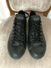 Converse All Star Ox Mono Black Leather Size 9 UK Low Top Trainers