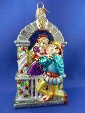 Romeo & Juliet Shakespeare Fairy Tale Old World Christmas Ornament Glass 24165