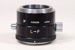 Nikon L-F Rotating adapter. LTM Lens to Nikon F body