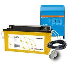 Potenza d'Emergenza Backup KIT INVERTER UPS 800 W; 12VDC, 230VAC, 200Ah BATTERIA AGM
