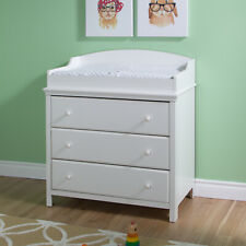 South Shore Cotton Candy Changing Table With Drawers Pure White White