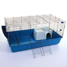100cm Rabbit Guinea Pig Indoor Cage Hutch Bed Metal Pet Small Animal