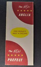 1954 English Ford Anglia & Prefect Sales Brochure Folder Excellent Original 54
