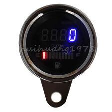 2 in 1 LED Digital Tachometer Gauge Speedometer Fuel Oil Motorcycle 12V for BMW
