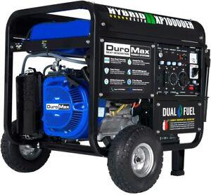 DuroMax XP10000EH Dual Fuel Portable Generator - 10000 Watt Gas or Propane Power