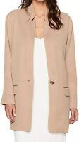 Halston Heritage Camel Boyfriend Oversized Blazer Jacket NWT Size Small