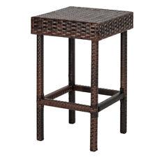 New Listing4Pcs Modern Wicker Rattan Bar Pub Dining Stool Chair Patio Garden Furniture Set