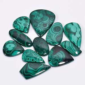 100 Cts Bulk Wholesale Lot Natural Malachite Gemstone Cabochon Mix Shape
