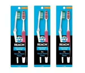 3 Pack Reach Advance Design 2-Count Toothbrush Soft