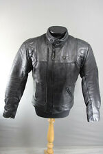 CLASSIC SPOTLITE LEATHERS LION THINSULATE 3MM LINED BLACK BIKER JACKET 42 INCH