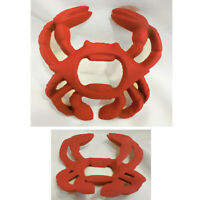 """NEW 3 1/4"""" x 3 1/2"""" Cast Iron Red Paint Crab Bottle Opener"""