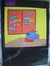 DOG'S dilema elenco (zona di Shag non Shag) in bianco adulto UMORISMO carta da Hallmark