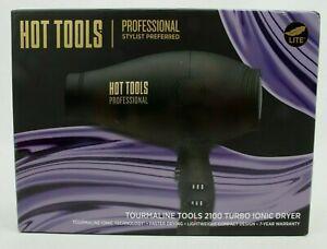 Hot Tools 2100 Turbo Ionic Hair Dryer Black HT7014D Tourmaline Tools
