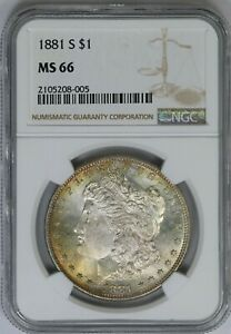 1881-S NGC Silver Morgan Dollar MS66 Mint State Coin