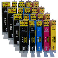20 Compatible replacements for Canon PGI-520 / CLI-521 printer ink cartridges.