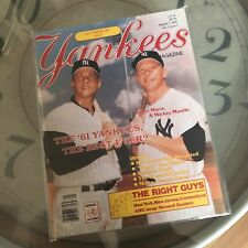 Yankees Magazine Roger Maris Mickey Mantle Old Timers Aug 7,1986 Vol 7 Issue 5