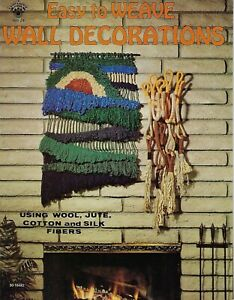 Easy to Weave Wall Decorations Craft Book Weaving Instructions Patterns VTG HH24