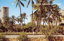 Hawaii~Hilton Hawaiian Village~1960 Postcard
