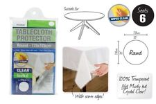 Transparent Plastic Tablecloth Cover Protector PVC Clear ROUND 178cm Brand New