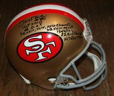 JERRY RICE SIGNED AUTO F/S SAN FRANCISCO 49ERS HELMET BAS **8 INSCRIPTIONS** HOF