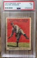 1914 Cracker Jack Walter Johnson #57 PSA 1 PR