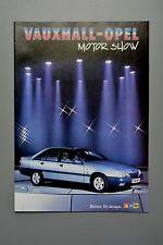 Car Brochure, Vauxhall Motor Show 1986 Nova Astra-Belmont Mk2, Senator, Manta