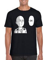 """ OK "" One Punch Man OPM Soka Saitama Anime Inspired T-Shirt S-2XL"