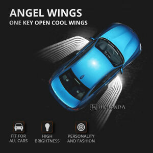 2pcs car Auto Angel Wings Lamp Courtesy Shadow Projector Welcome LED Light white