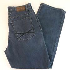 1990's Girbaud 34x32 Dark Blue Jeans - Vtg Relaxed Straight Marithe Francois