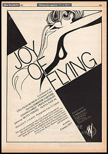 JOY OF FLYING__Original 1977 Trade AD promo / poster__CORINNE BRODBECK / CARTIER