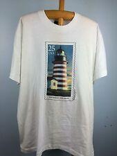 VTG Mens XL West Quoddy Head Maine Light House T Shirt Screen Stars USPS Stamp