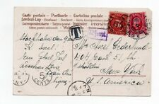 USA:Postcard to USA 1908 , postage due.
