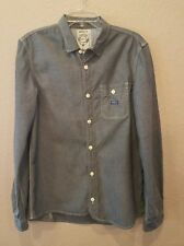 Diesel Mens Shirt L Collared Long Sleeve Button Chambray Shirt EUC
