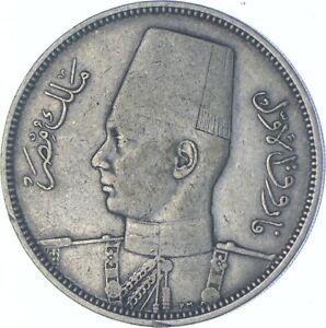 Better Date - 1939 Egypt 5 Qirsh - SILVER *633