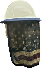 Hard Hat Neck Protector shade American Flag design Quick dry mesh