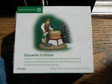 Dept 56 New England Village Accessory Glassworks Craftsman Nib