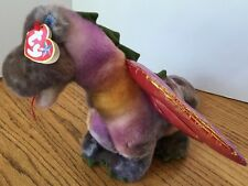"""1999 Retired Ty Original Beanie Buddy """"Scorch"""" Dragon Ty-Dyed Large Size"""